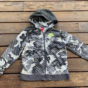 Nike Camo zip up hoodie boys XL